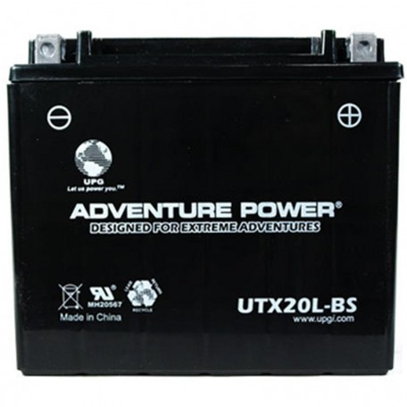 Adventure Power UTX20L-BS (YTX20L-BS) (12V, 18AH) Motorcycle Battery