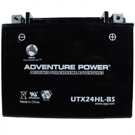 Adventure Power UTX24HL-BS (YTX24HL-BS) (12V, 21AH) Motorcycle Battery