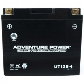 Adventure Power UT12B-4 (YT12B-BS) (12V, 10AH) Motorcycle Battery