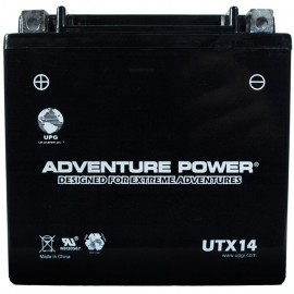 Adventure Power UTX14 (YTX14-BS) (12V, 12AH) Motorcycle Battery
