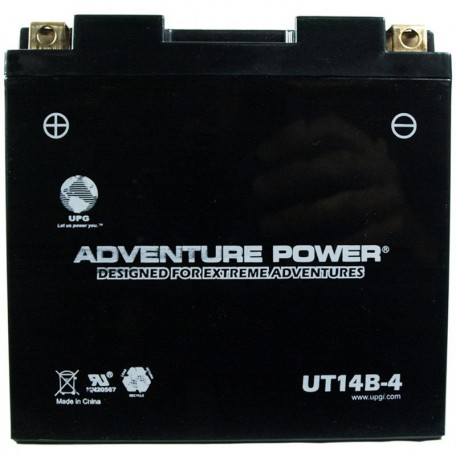Adventure Power UT14B-4 (YT14B-BS) (12V, 12AH) Motorcycle Battery