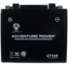 Adventure Power UT16B (YB16-B) (12V, 19AH) Motorcycle Battery