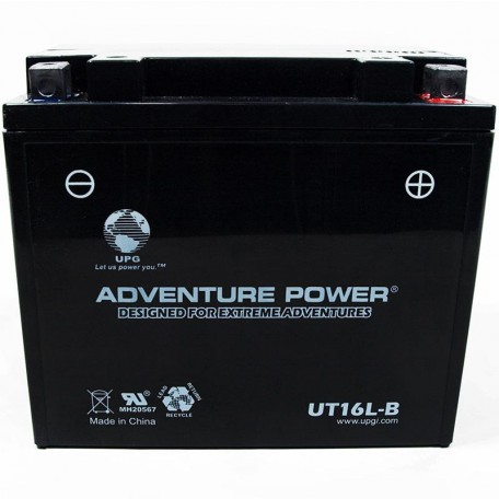 Adventure Power UT16L-B (YB16L-B) (12V, 19AH) Motorcycle Battery