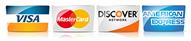 visa, mastercard, american express, discover card